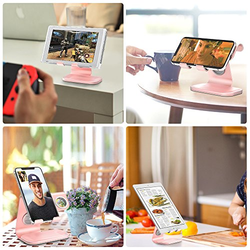 ZVEdeng Cell Phone Stand & Watch Stand for Apple & Tablet Stand, 2 in 1 Phone Stand for iPhone X/8/7/7 Plus/6/6 Plus/5S/SE/5, iPad, All Android Smartphones, Kindle(Rose Gold-Leather) by ZVEdeng (Image #7)