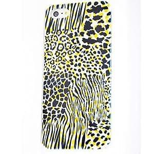 MOFY-Patr-n Leopard policarbonato duro Fundas para iPhone 5/5S , Multicolor