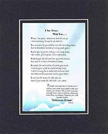 Amazoncom I Am Always With You Poem On 11 X 14 Inches Double