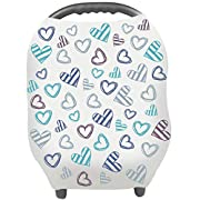 Nursing Cover - Breastfeeding Cover Carseat Canopy for Baby Infant, Car Seat Covers for Babies by YOOFOSS (Blue)