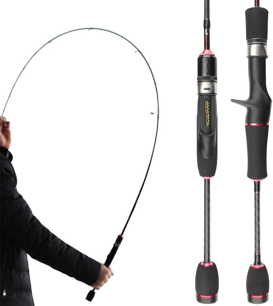 Baitcasting Spinning Fishing Rod 1.8m 2 Sections Travel Ultra Light Line Weight