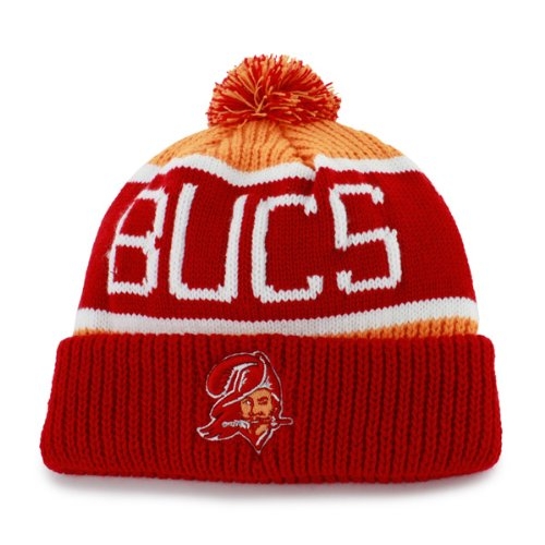 Tampa Bay Buccaneers Calgary Cuffed Knit Hat With Pom Pom by '47 Brand ()