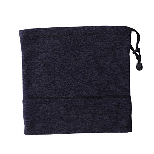 iParaAiluRy 4in1 Fleece Neck Gaiter For Women Men - Windproof Sport Neck Warmer as Scarf Face Mask Beanie Hat - Winter Thermal Tubular For Ski Snowboard Cycling (Football Fleece Scarf)