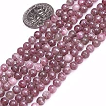 "Natural Round Pink Tourmaline Lepidolite Gemstone Loose Beads In Bulk For Jewelry Making Wholesale One Strand 15 1/2"" (4mm/pink tourmaline)"