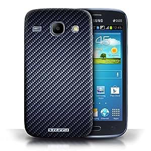 iChoose® rígida teléfono móvil para Motorola Moto X (2014)/colección de fibra de carbono, plástico, azul, Samsung Galaxy Core