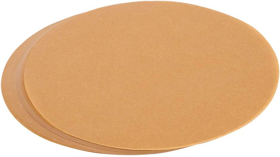 SMARTAKE 200 Pcs Unbleached Parchment Paper Baking Sheets Round, 8 Inches Non-Stick Precut Baking Parchment, Perfect for Baking Grilling Air Fryer Steaming Bread Cup Cake Cookie and More