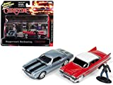 StarSun Depot 1967 Chevrolet Camaro and 1958 Plymouth Fury with Figurines from Christine Movie 1/64 Model Cars by Johnny Lightning