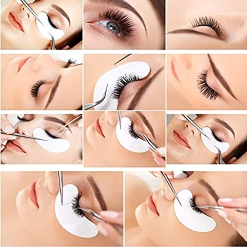 3x100 Packs- Under Eye Pads Lint Free Lash Extension Eye Gel Patches & Eyelash Mascara Brushes Wands Applicator Makeup Brush (300pck) by XIAOYA (Image #3)