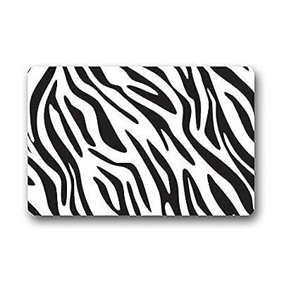 """TSlook Doormat Zebra Print 2 Indoor/Outdoor/Front Welcome Door Mat(30""""x18"""",L x W)"""