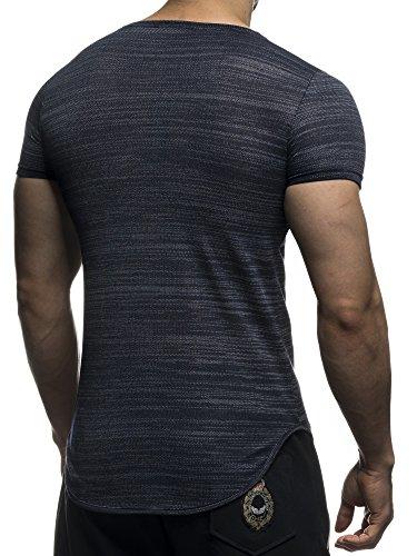 David Gerenzo - Camiseta - Cuello redondo - para hombre azul oscuro