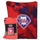 Philadelphia Phillies MLB Vapors Style Fleece Throw Blanket (50x60)
