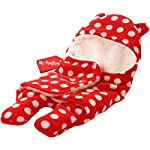 MY NEWBORN Baby Blanket Wrapper Cum Sleeeping Bag Red