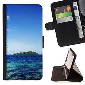 For Apple (4.7 inches!!!) iPhone 6 / 6S Case , Tahití- la tarjeta de Crédito Slots PU Funda de cuero Monedero caso cubierta de piel
