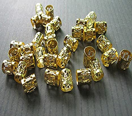 Brass /& Red Agate Dreadlock Jewelry TinTin