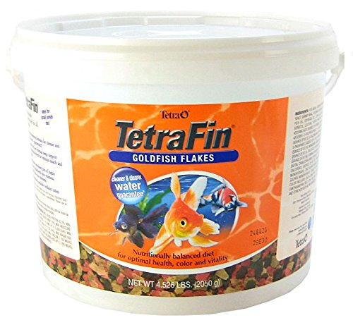 Goldfish Aquarium Flake Food - Tetra TetraFin Goldfish Flakes, 4.52Pound - 16621