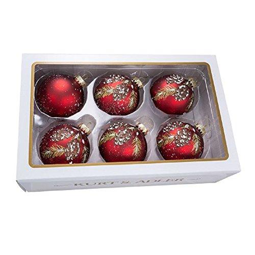 (Kurt Adler Set of 6 Pinecone Glass Ball Ornaments)