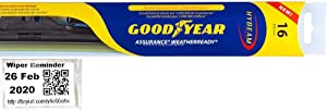 Assurance WeatherReady - Driver Windshield Wiper Blade for 1986-1990 Alfa Romeo Spider (Quadrifoglio) & Reminder Sticker