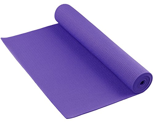 THE CLEAN Anti-Bacterial Germ and Odor Fighting Yoga Mat by YogaAccessories - Purple