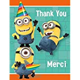 Despicable Me Folded Thank You Notes