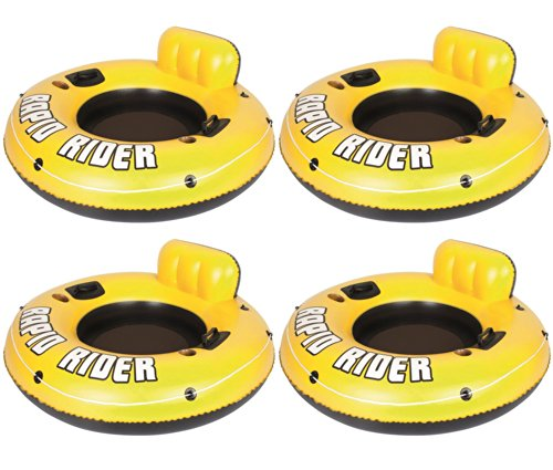 """4-Pack Bestway Rapid Rider 53"""" Raft Tubes With Handles/Cup Holders 