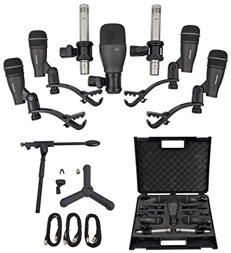 crophone-1 Q71 Kick+4 Q72 Snare+2 C02 Mics+Stand+Cables (Steel 18' Speaker Stands)