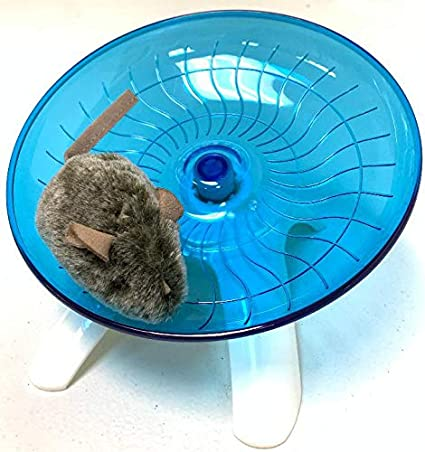 TOPINCN Mouse Silent Running Exercise Wheel Plastic Pet Toy for Rodents Mice Rats Hamster Gerbils Hedgehogs Small Animals