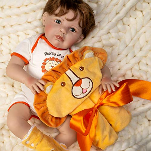 Paradise Galleries Silicone Reborn Baby Boy Doll Fiercely Loved, 20 inches, Weighted Body, 4-Piece Doll Set
