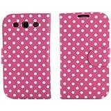 BONAMART ® Flip Polka Dots Leather Case for AT&T, Verizon, Sprint, T-mobile Samsung Galaxy S3 - Pink