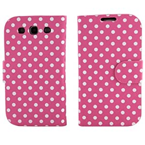 BONAMART ® Flip Polka Dots Leather Case for AT&T, Verizon, Sprint, T-mobile Samsung Galaxy S3 - Pink
