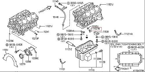 Engine Oil Drain Plug Infiniti 11128-01M0B