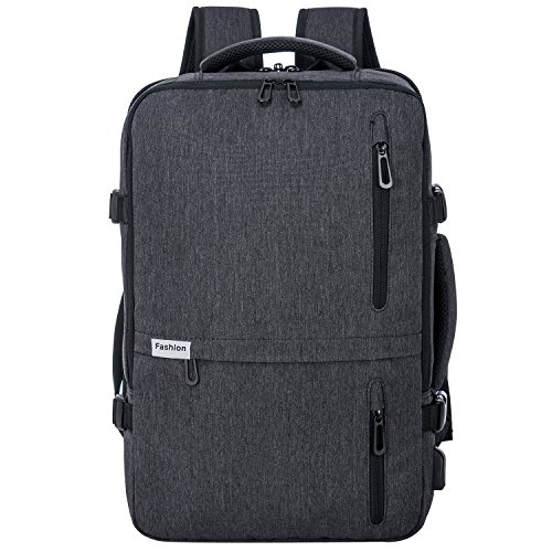 (Travel Laptop Backpack 35L Flight Approved Carry On Weekender Bag Backpack expandable with USB Charging Port Smart Organized)