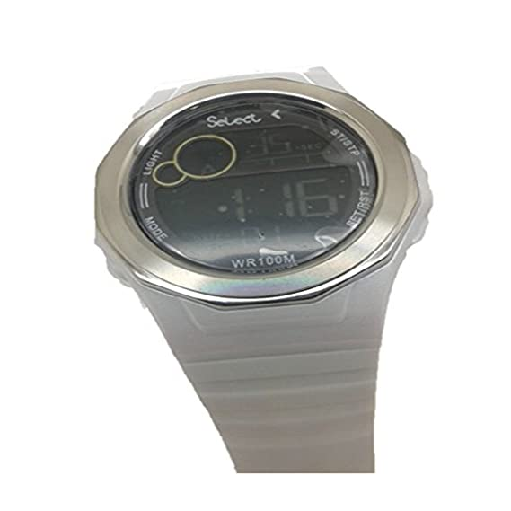 RELOJ CADETE SELECT REF X0-12 de color Blanco, DIGITAL (Esfera Negra y Numeros Blancos).: Amazon.es: Relojes
