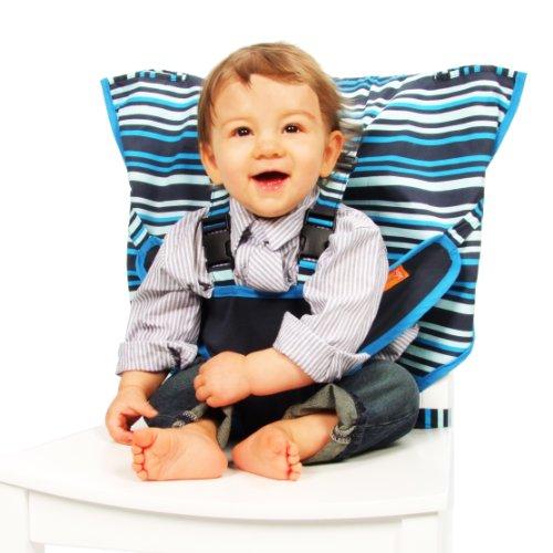 a08f44dd3346 Amazon.com   My Little Seat Travel Highchair - Hudson Stripe   Childrens  Highchairs   Baby