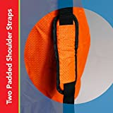 Car-Seat-Travel-Bag-Made-of-Ultra-HEAVY-DUTY-Material-Padded-Double-Shoulder-Straps-Strong-Rubber-Handle-Unique-System-of-Attached-Carrying-Pouch-Great-for-Airport-Gate-Check-and-Storage