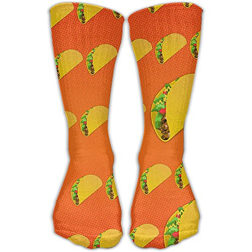 Taco Pattern Women & Men Socks Soccer Sport Tube Stockings Length 30cm ()