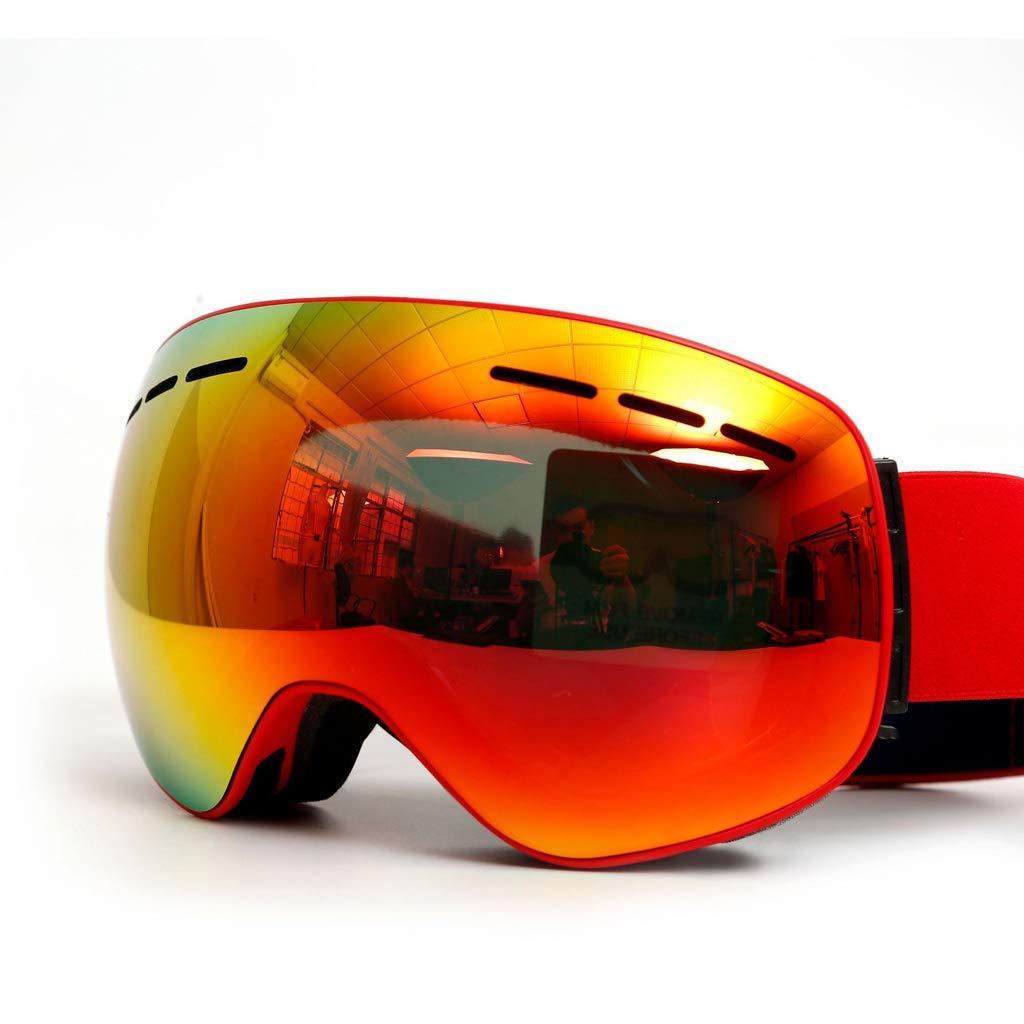 スキーゴーグル、スキーオーバー大人用防曇防止UVフレームレススノーボードジェットスノーサングラス (色 : A) B07SSRHPGW A