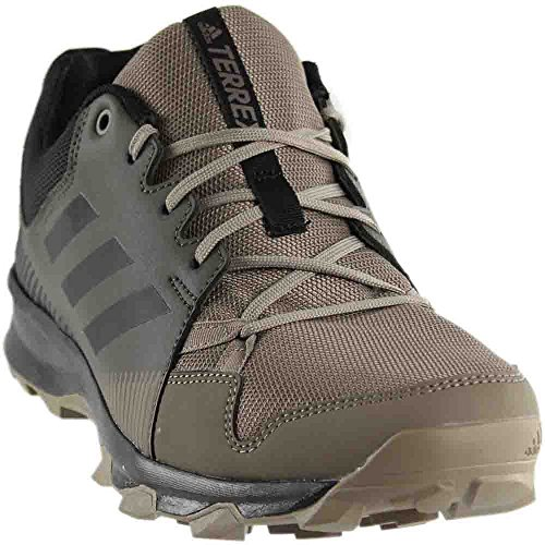 adidas outdoor Men's Terrex Tracerocker Trail Running Shoe, Utility Grey/Black/Simple Brown, 11 D US (Adidas Trail Running Shoes Men)