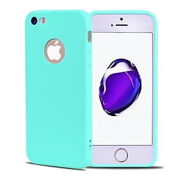Funda iPhone 5S, Carcasa iPhone SE, Suave Opaco gel Silicona ...