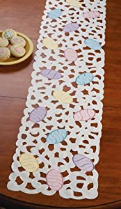 Amazon.com: Colorful Spring Easter Eggs Table Runner: Home & Kitchen