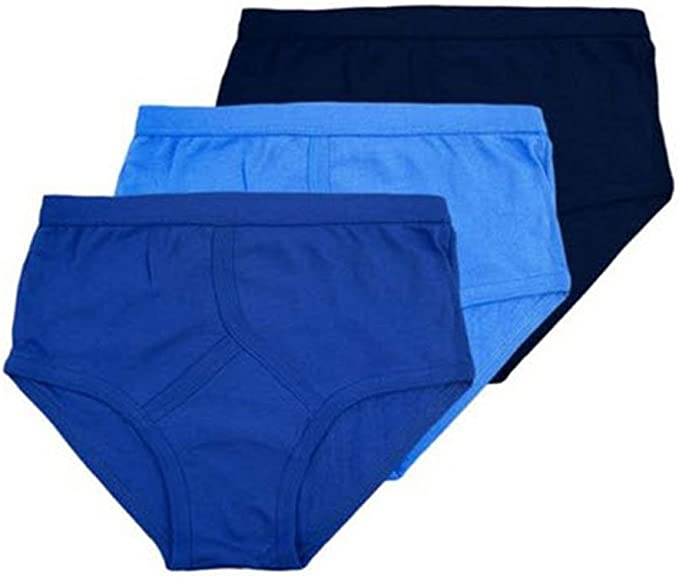 3XL 4XL 5XL 12 Mens Y Fronts 100/% Cotton Interlock Briefs Underwear Blue