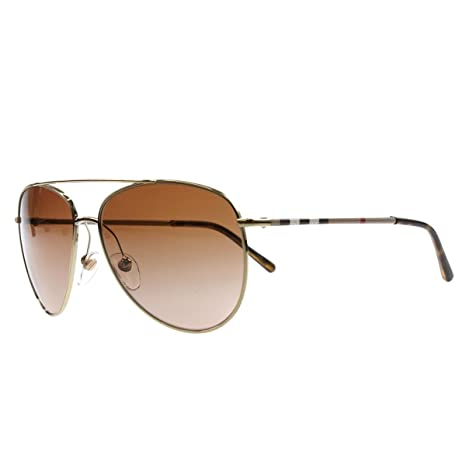 a107b1b448b7 Burberry Men's Gradient BE3072-114513-57 Silver Aviator Sunglasses: Burberry:  Amazon.ca: Luggage & Bags
