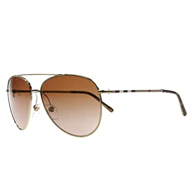 3fb97062447d0 Amazon.com  Burberry BE3072 114513 Gold BE3072 Pilot Sunglasses Lens  Category 2 Size 57mm  Burberry  Shoes