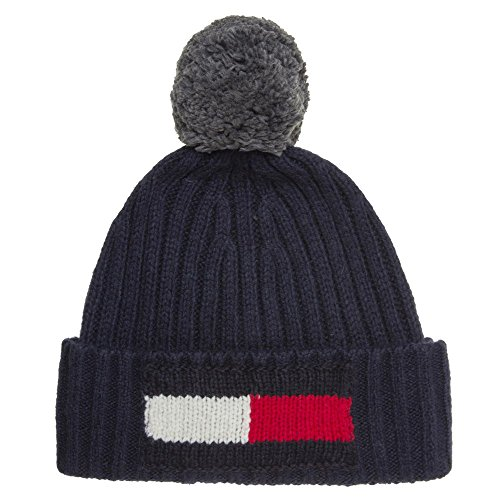 TOMMY HILFIGER Flag Mens Beanie Blue from Tommy Hilfiger