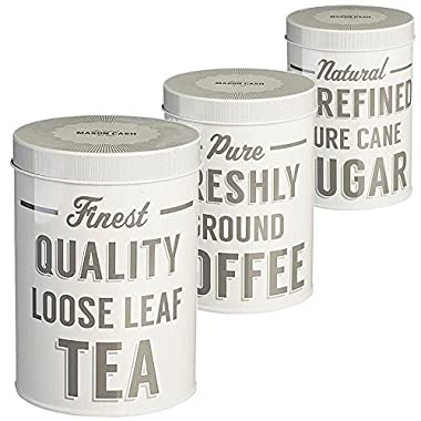 Mason Cash - Baker Street Set Of 3 Tea Coffee Sugar Tins
