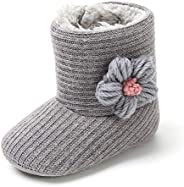 CLOUCKY Infant Girls Cute Bowknot Booties Baby Girl Winter Warm Snow Boots