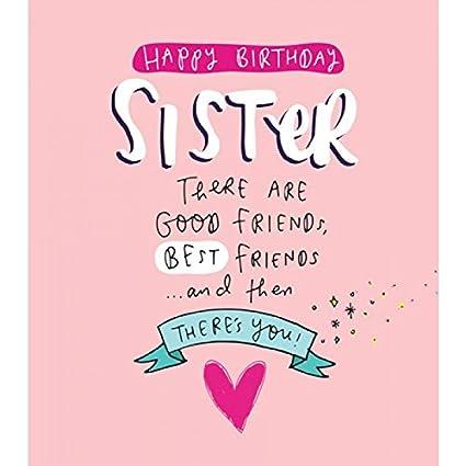 Tarjeta de felicitación (pig9325) - cumpleaños - hermana ...