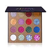 UCANBE 16 Color Glitter Eyeshadow Palette, 4 Chunky Gel Glitter + 12 Pressed Glitter Eye Shadow, High Pigment Shimmer...