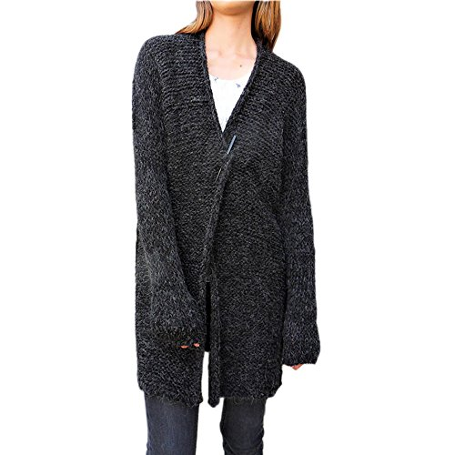 レディース カーディガン セーター カーディガン長袖セーター コートたくさん白黒 Outwear セーター