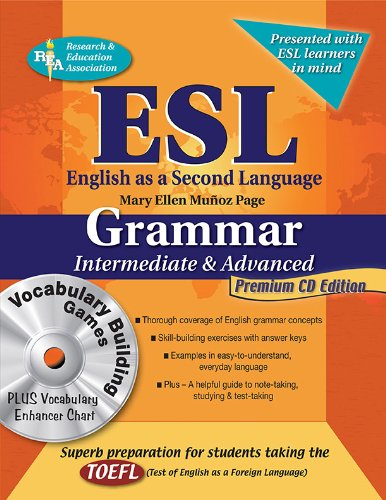 ESL Intermediate/Advanced Grammar w/Vocab Builder w/CD-ROM (English as a Second Language Series)