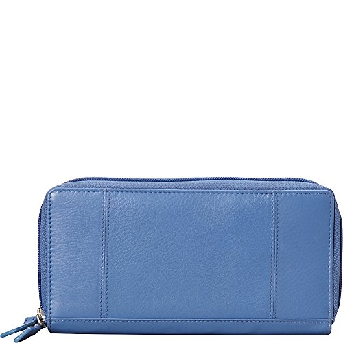 mancini-leather-goods-rfid-secure-collection-ladies-double-zipper-rfid-wallet